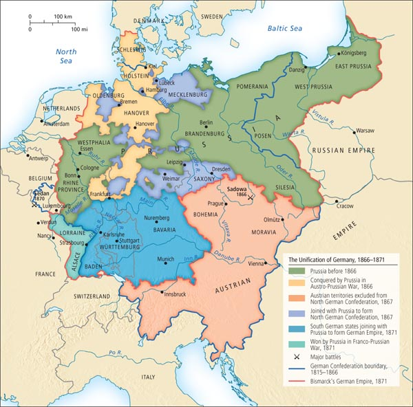 Map Of Germany 1871.The Unification Of Germany 1866 1871