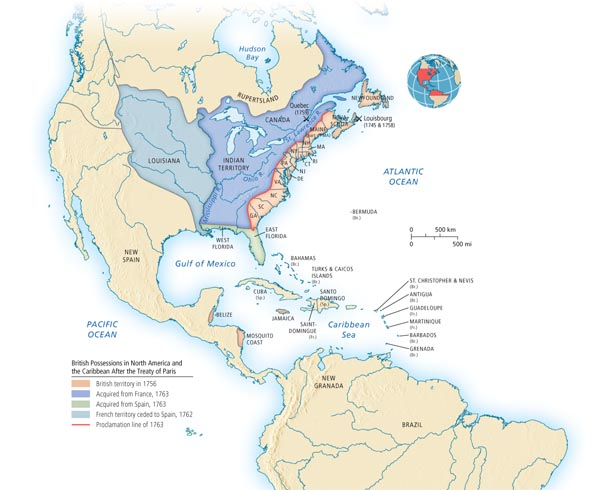 British Possessions In North America And The Caribbean After The - Treaty of paris map